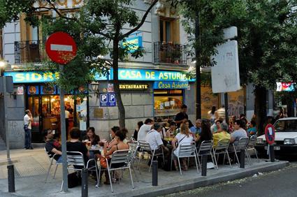 Terraza en el centro de Madrid