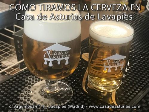 Como servir una buena cerveza en Madrid