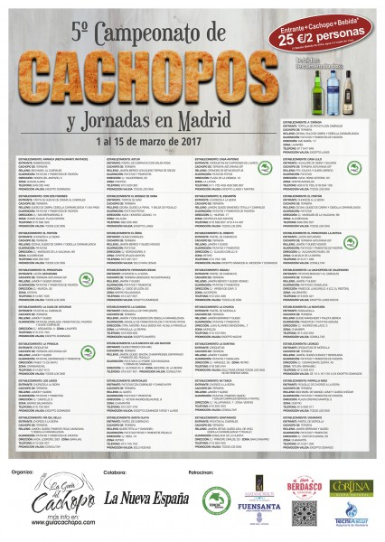 Restaurantes participantes en jornadas del cachopo madrid