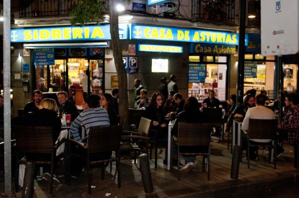 terraza de verano en restaurante en madrid