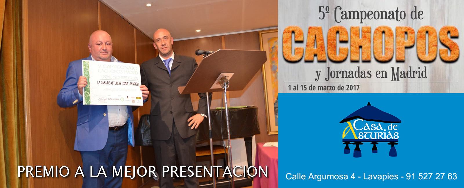 MEJOR CACHOPO DE MADRID - MEJOR PRESENTACION