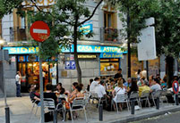 Terraza de restaurante céntrico en Madrid