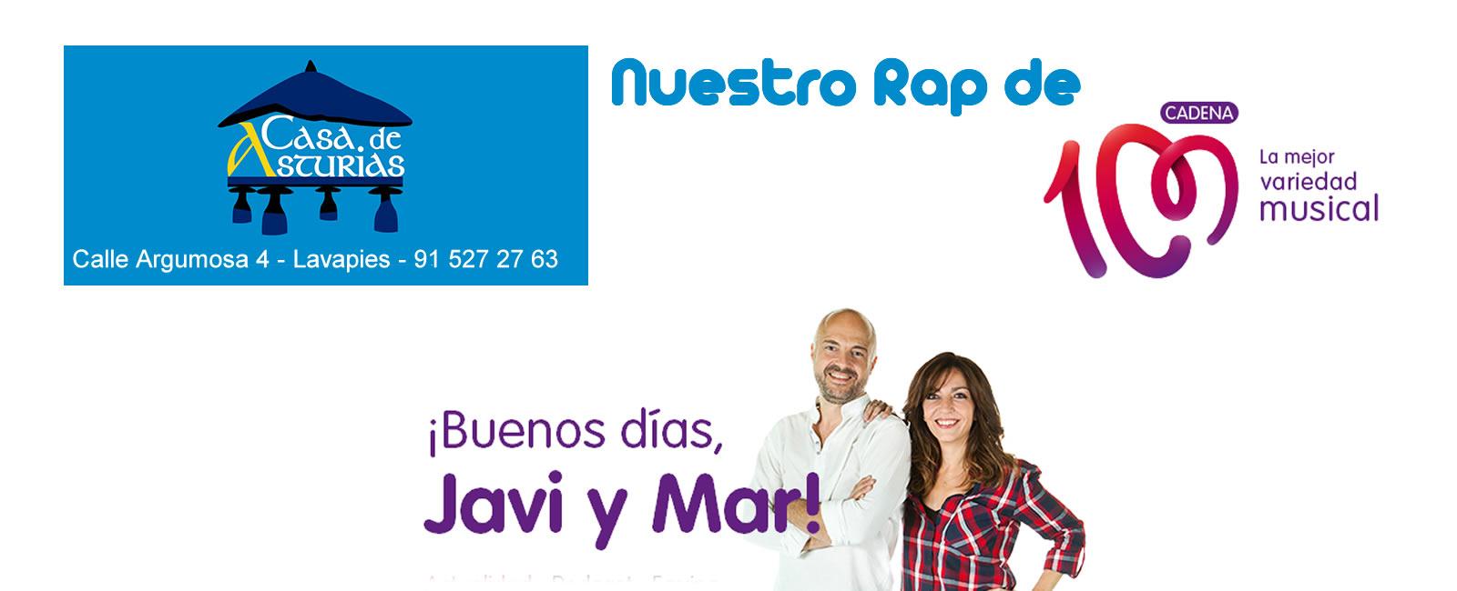 Rap cadena 100 para Casa de Asturias de Madrid